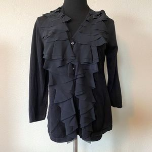 Alfani Button up Cardigan, PL, Black, Gently Used